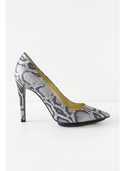 Stella McCartney ESCARPINS EN SATIN IMPRIMÉ SERPENT