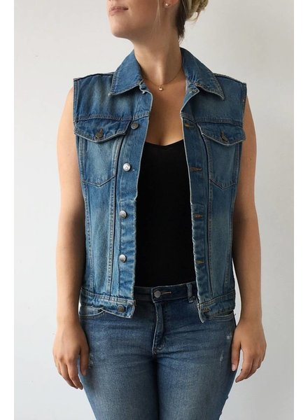 Criminal Damage VESTE EN JEANS SANS MANCHES