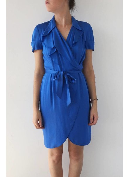 Banana Republic ROBE BLEU ROYAL EN SOIE