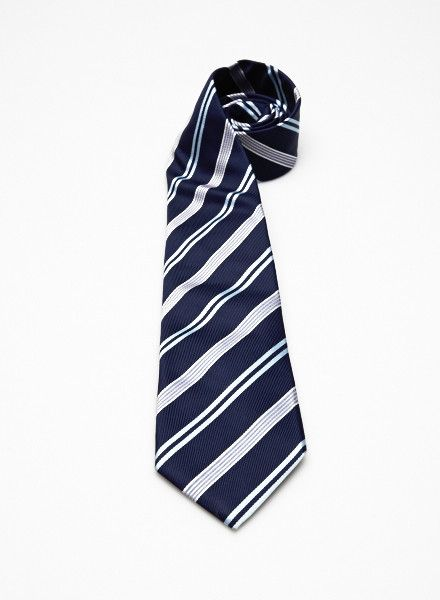 ETON Cravate marine à rayures bleues, roses et blanches