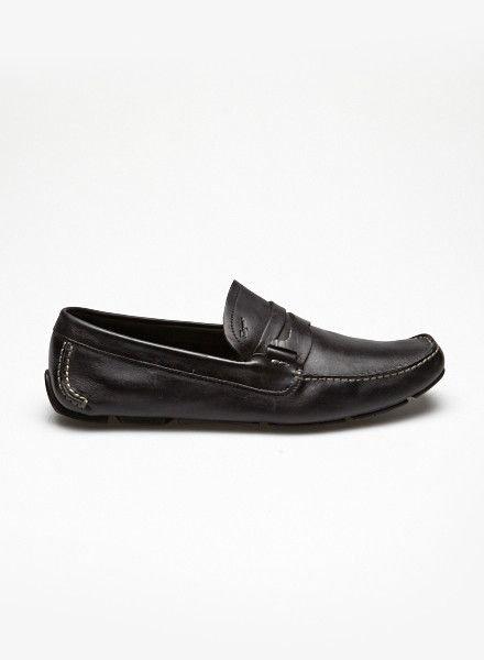 Salvatore Ferragamo Loafers en cuir noir