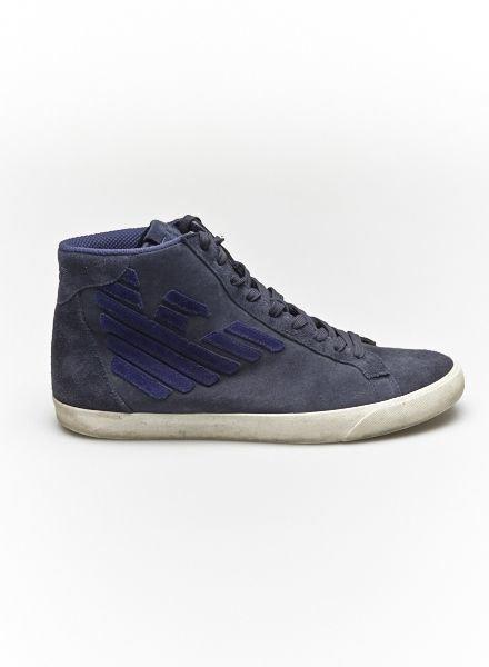 Emporio Armani Sneakers bleus en suède