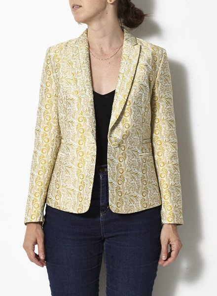 Darling VESTON JAUNE STYLE BROCARD - NEUF