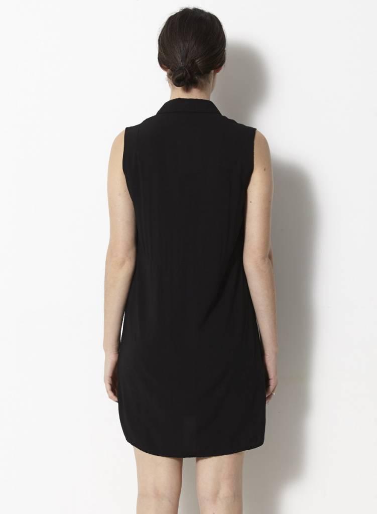 Valerie Dumaine Robe tunique noire sans manches