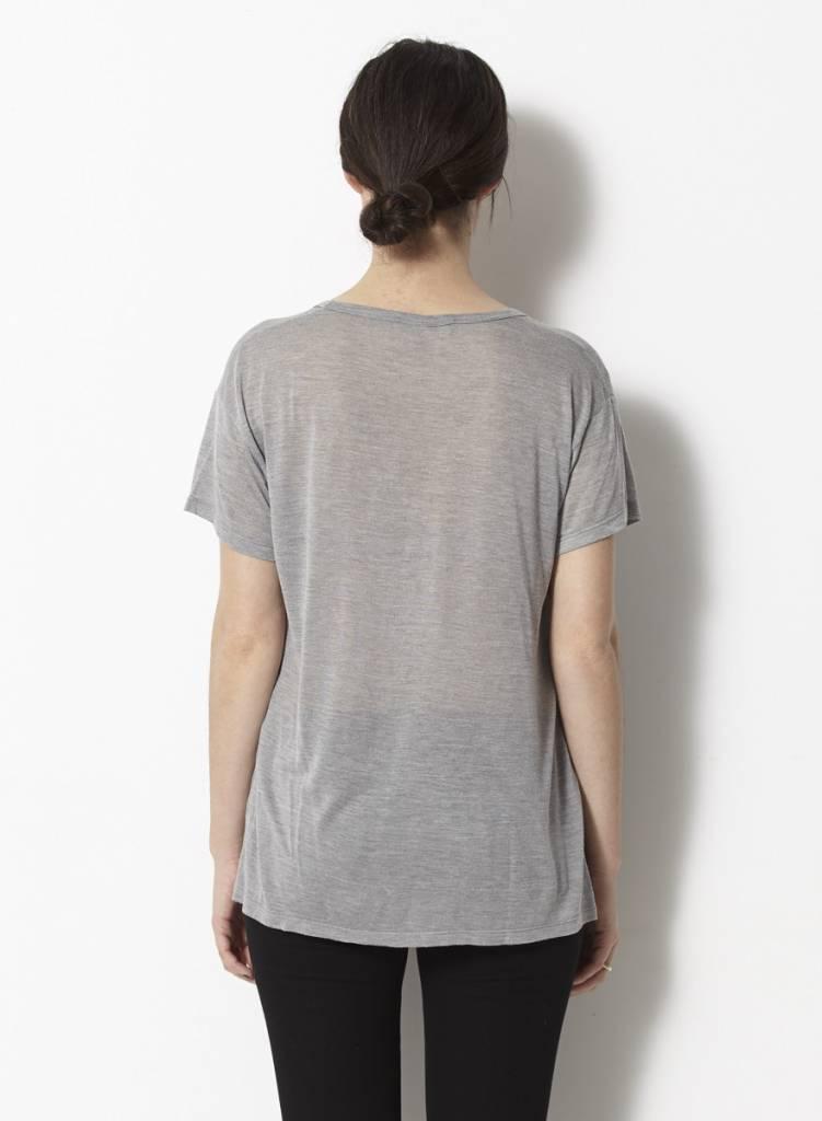 Kaïn T-shirt gris avec soie