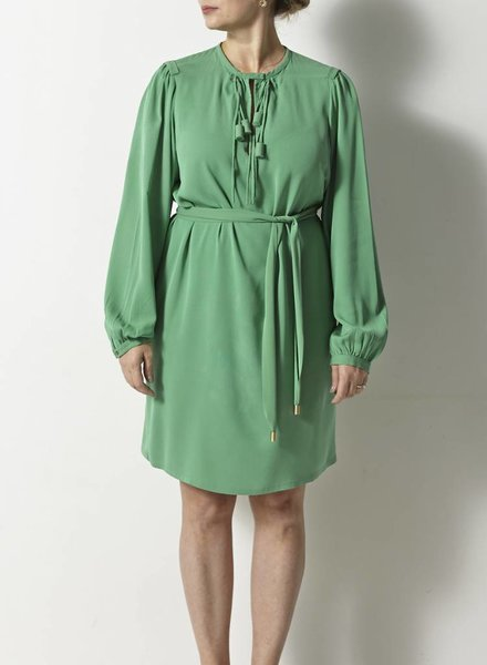Diane von Furstenberg ROBE EN SOIE VERTE