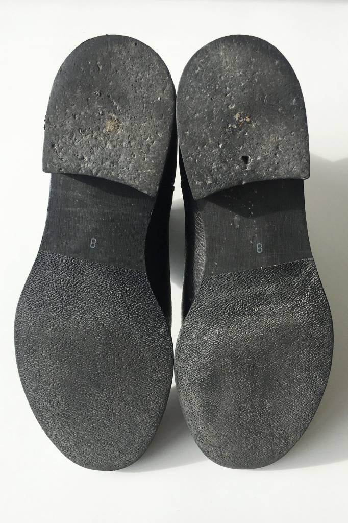 Madewell Bottes en cuir noir attache aux chevilles
