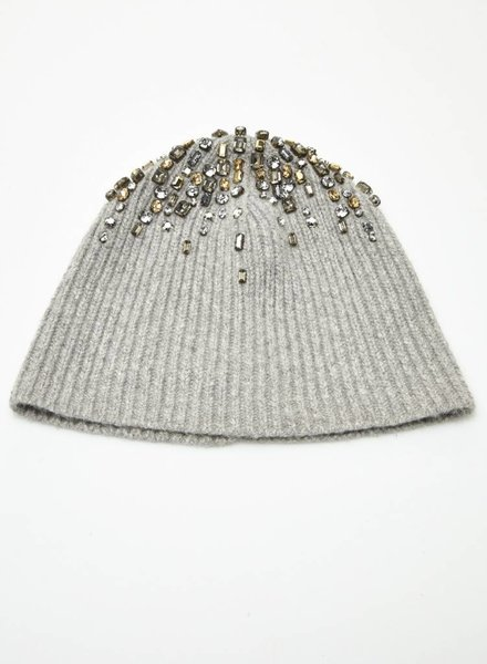 Club Monaco BONNET GRIS À ORNEMENTS