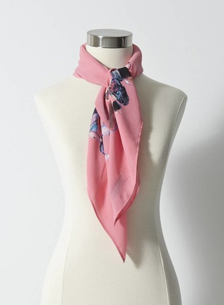 Something Else by Natalie Wood FOULARD ROSE FLUO IMPRIMÉ DE PIERRES
