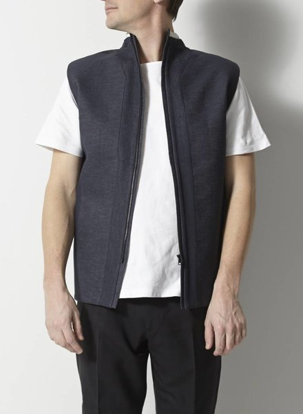 Rad by Rad Hourani HAUT SANS MANCHES STRUCTURÉ EN DENIM - UNISEXE