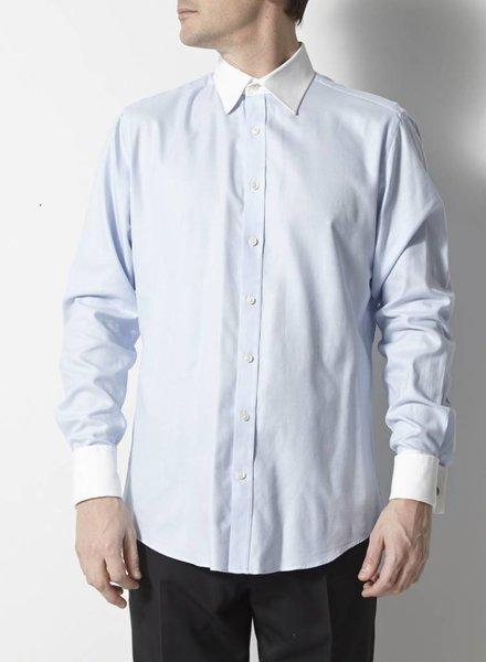 Hawes & Curtis Chemise bleue à col blanc
