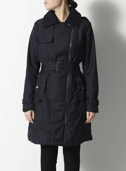 "Spoom MANTEAU MARINE STYLE ""TRENCH"" ASYMÉTRIQUE"