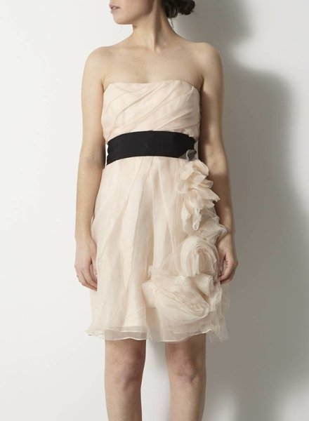 Lavender Label by Vera Wang ROBE ROSE EN SOIE