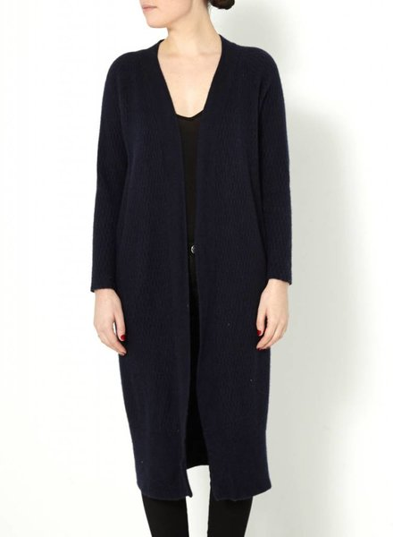 James Perse CARDIGAN LONG EN CACHEMIRE MARINE