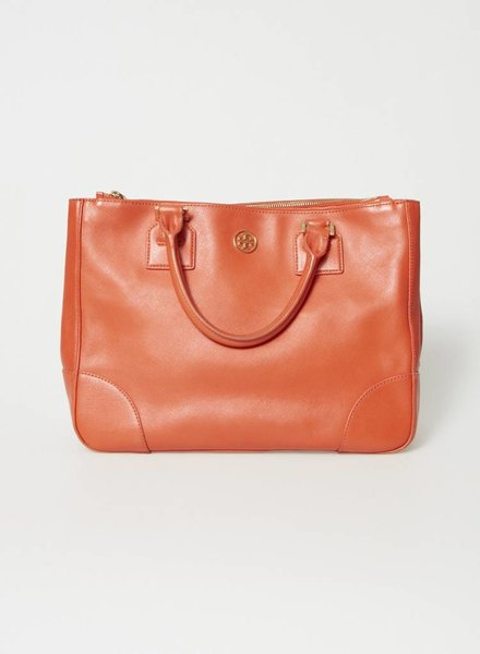 Tory Burch SAC À MAIN ORANGE EN CUIR