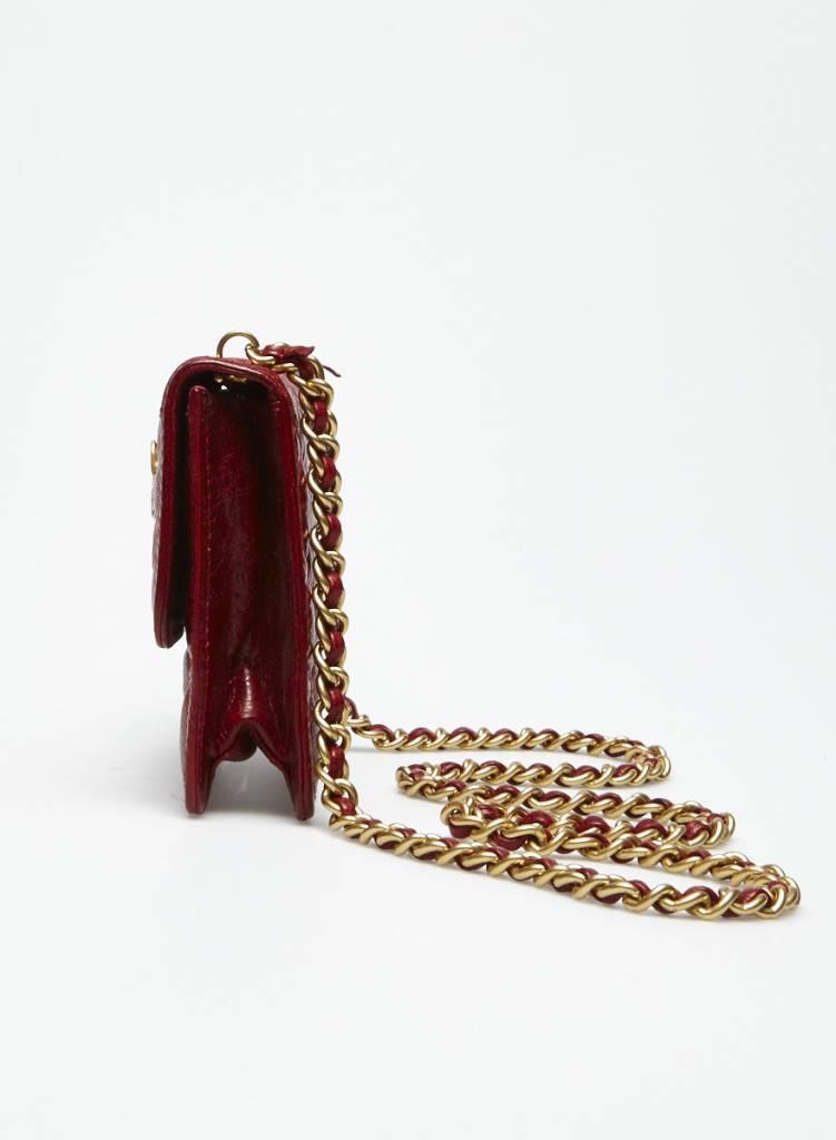 Rebecca Minkoff Sac en cuir rouge zèbres dorés