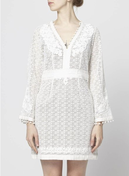 The Kooples ROBE BLANCHE À BRODERIES