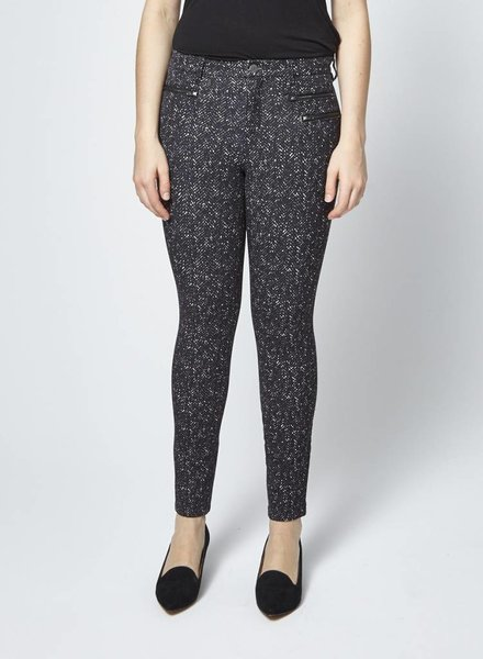 Banana Republic PANTALON EXTENSIBLE NOIR CHINÉ BLANC