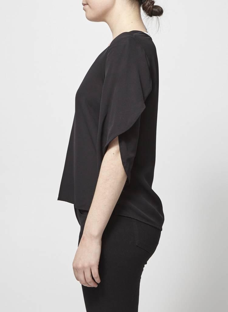 Diane von Furstenberg Haut noir en soie
