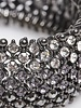 Agatha Bracelet élastique pierres grises et cristaux