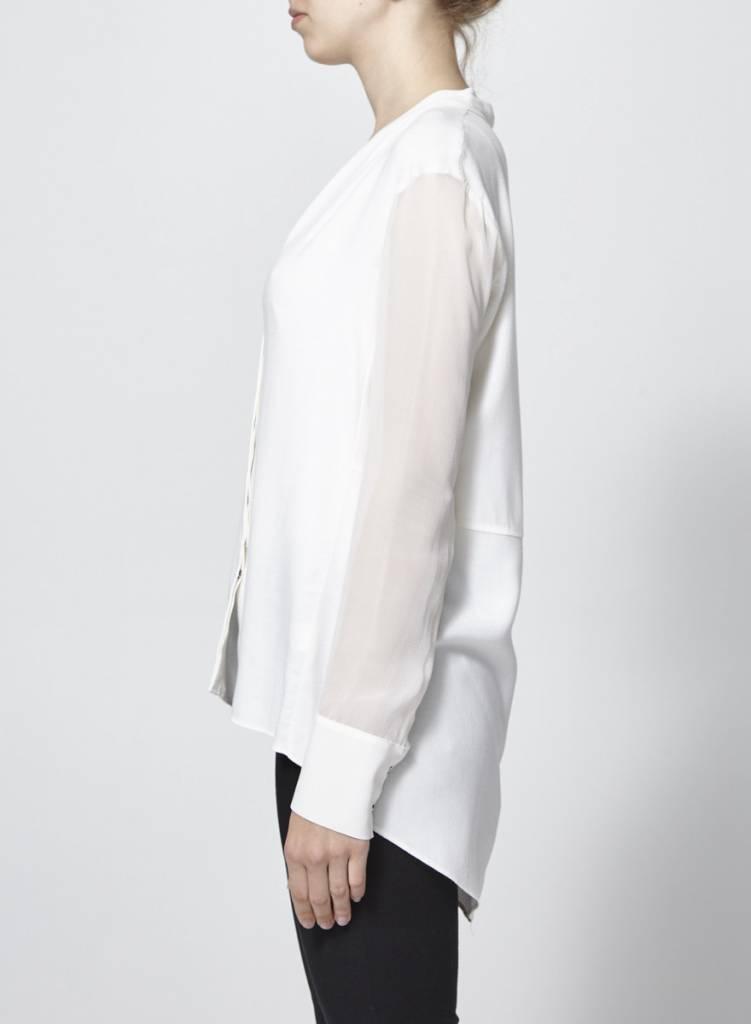 Helmut Lang Blouse blanche ample diaphane