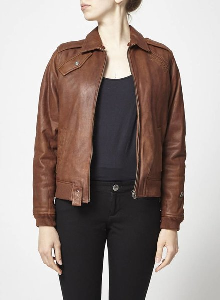 G-Star MANTEAU MARRON EN CUIR