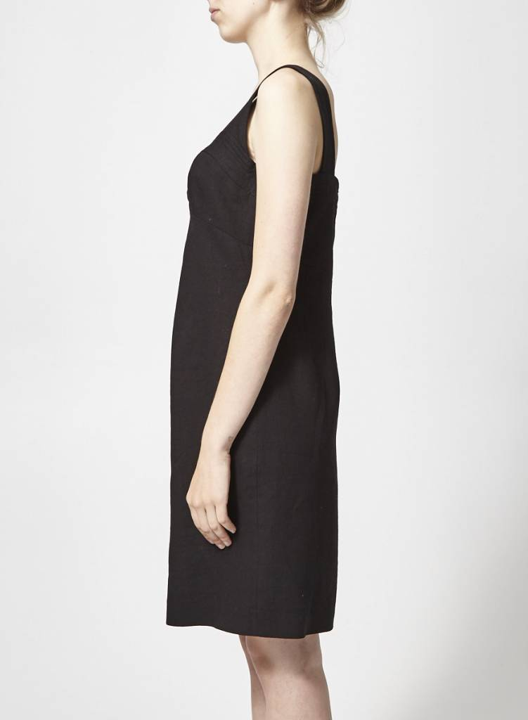 Teenflo Robe noire en lin