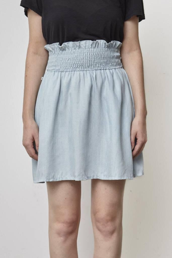 Atelier B Jupe en chambray taille élastique - Neuve