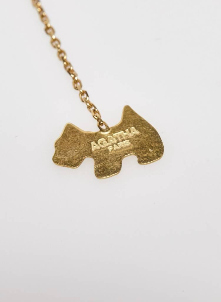 Agatha Collier doré avec pendentif chien Agatha
