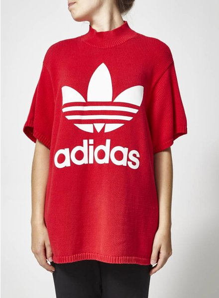 Adidas PULL ROUGE EN TRICOT MANCHES COURTES