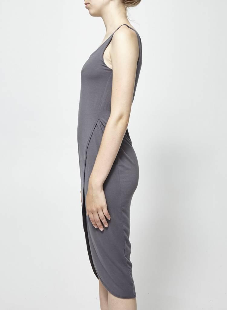 Charli Robe longue grise ajustée