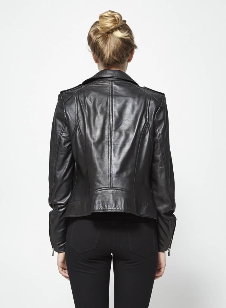 Lamarque Collection Blouson noir en cuir