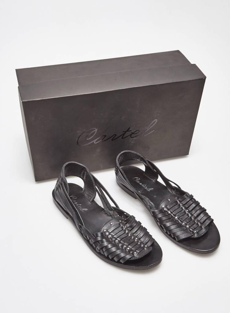 Cartel Sandales en cuir noir