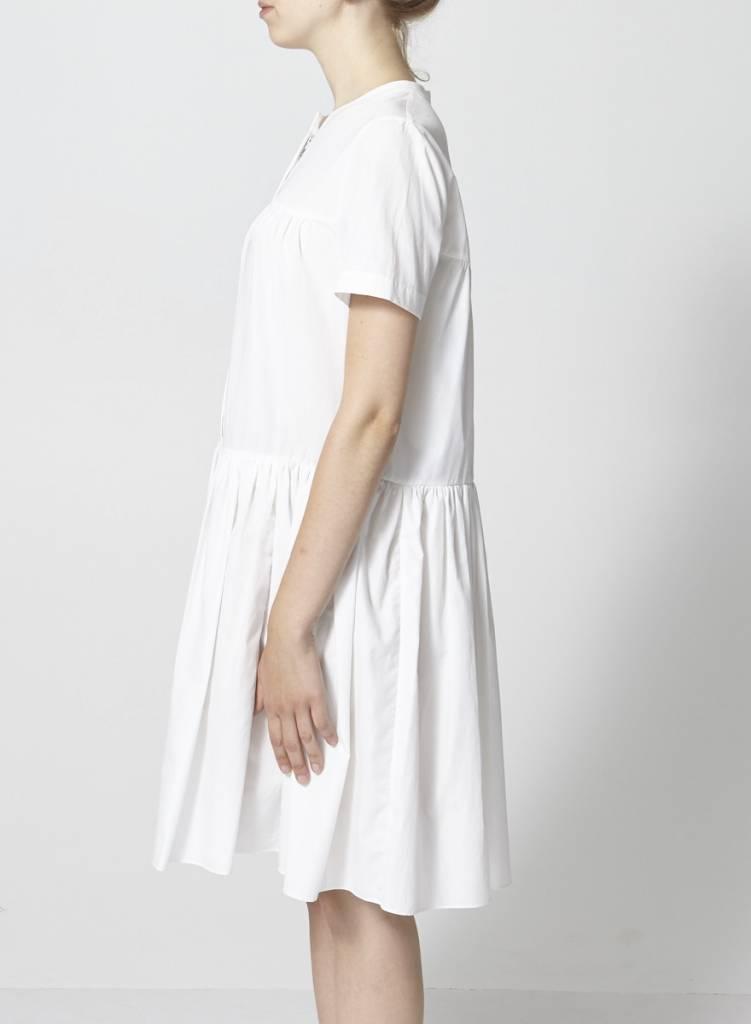 BCBG Max Azria Robe blanche bas plissé - Neuve