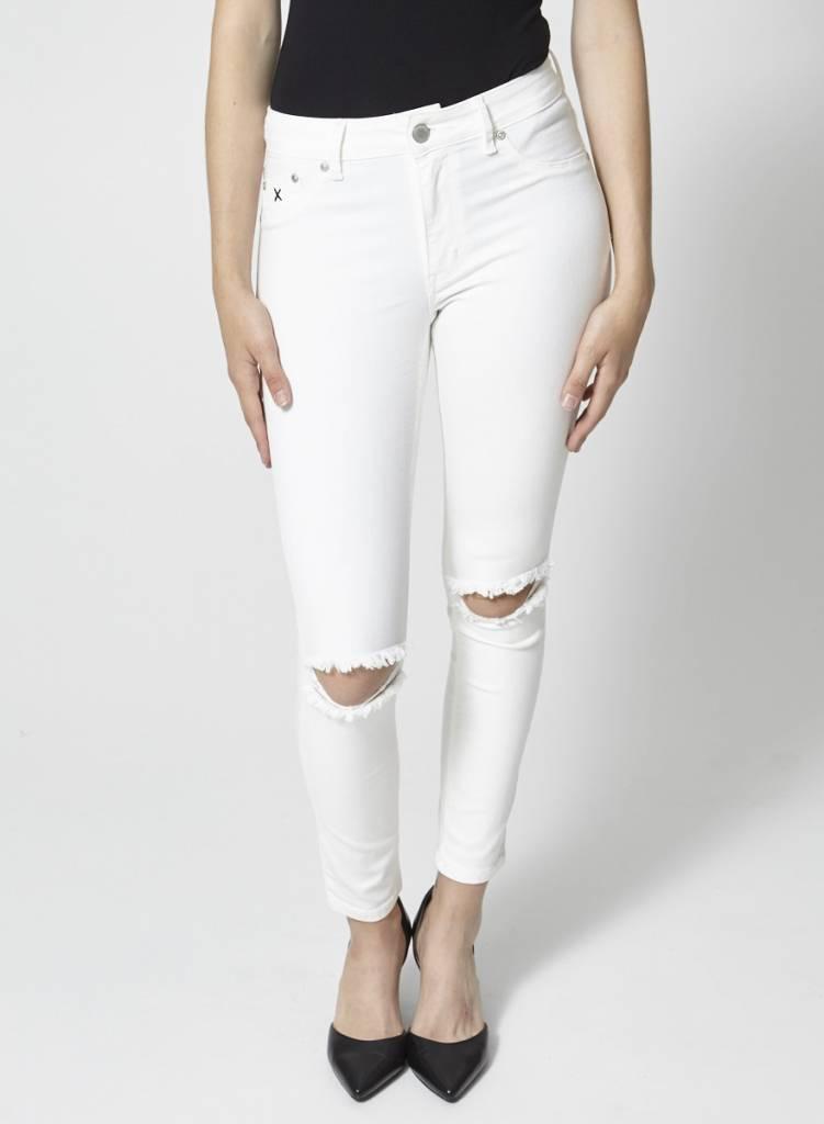 RES Denim Jeans blanc effet troué aux genoux - Neuf