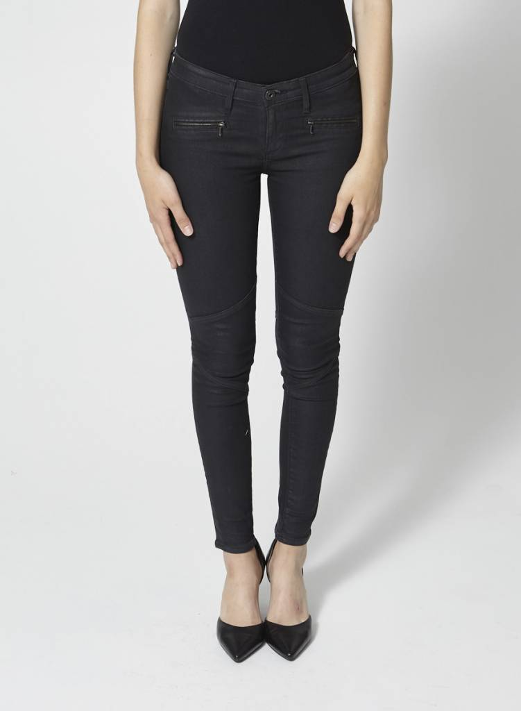 Adriano Goldschmied Jeans skinny noir structuré