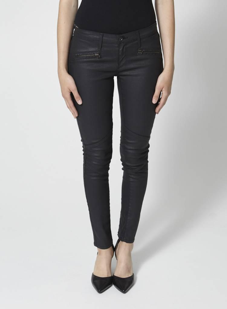 Adriano Goldschmied Jeans skinny structuré noir effet lustré