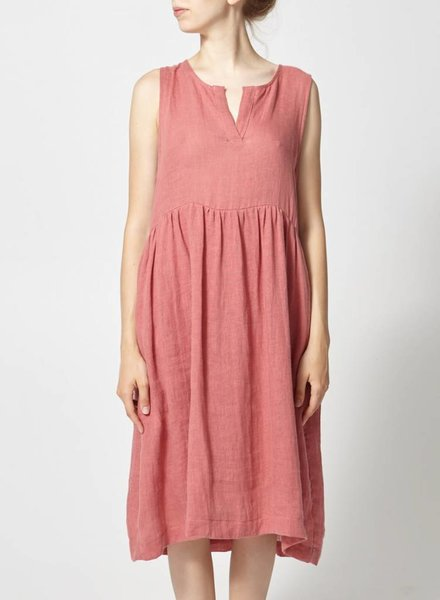 Amanda Moss ROBE AMPLE ROSE EN LIN