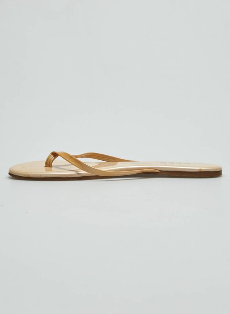 TKEES Sandales en cuir beige