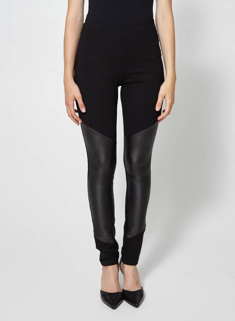 Eve Gravel Leggings noir effet cuir