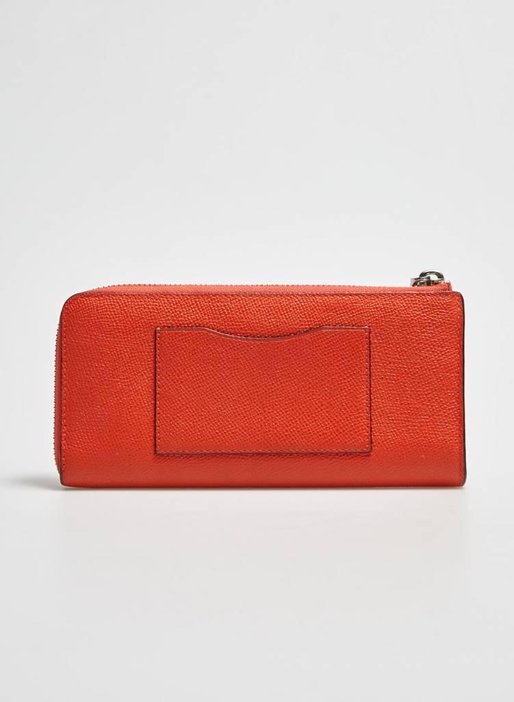 Coach Portefeuille en cuir orange
