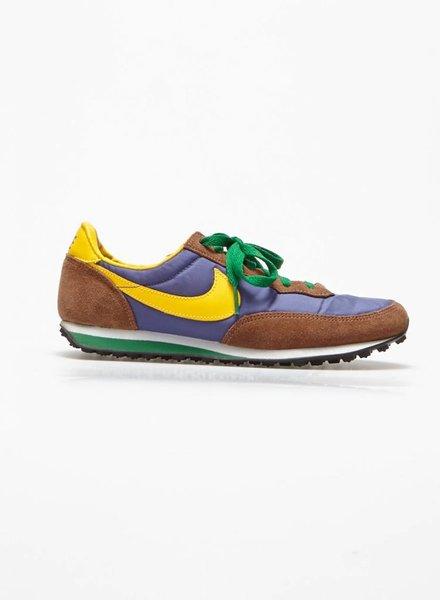 Nike ESPADRILLES BLEU ROYAL, JAUNE ET CUIR MARRON