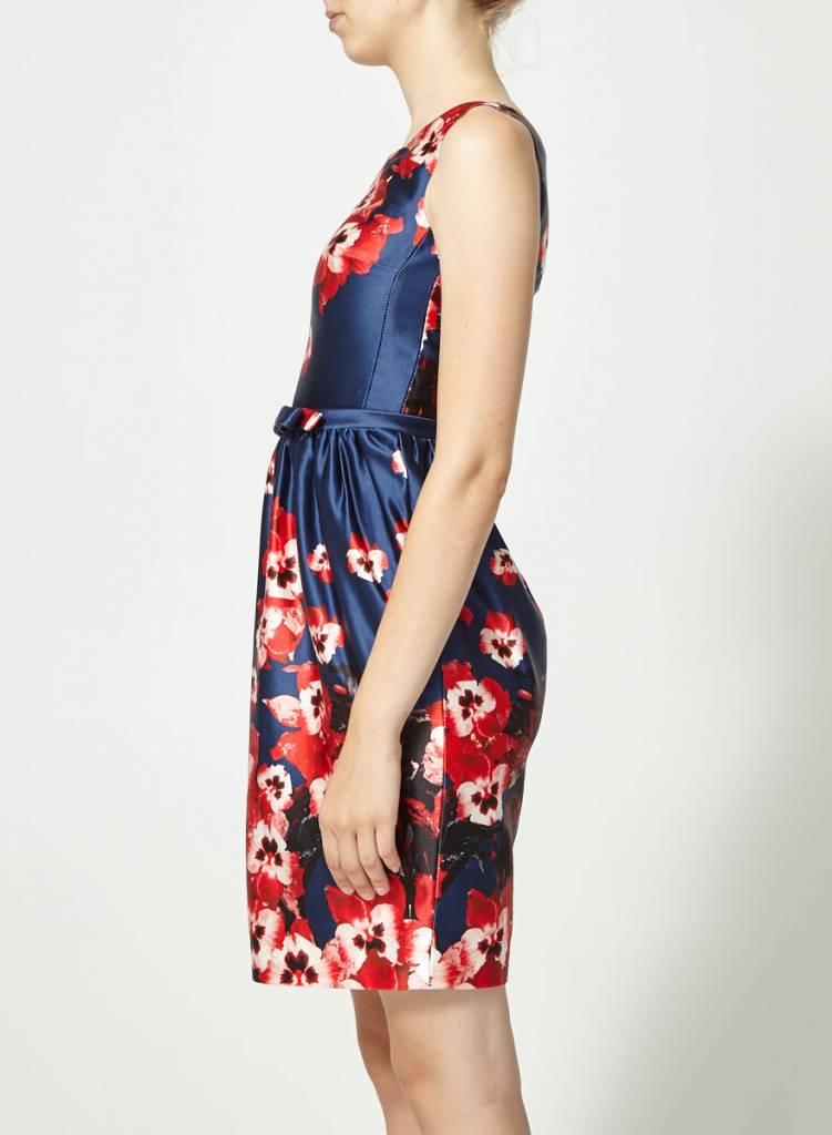 Éditions de Robes Robe marine fleurie