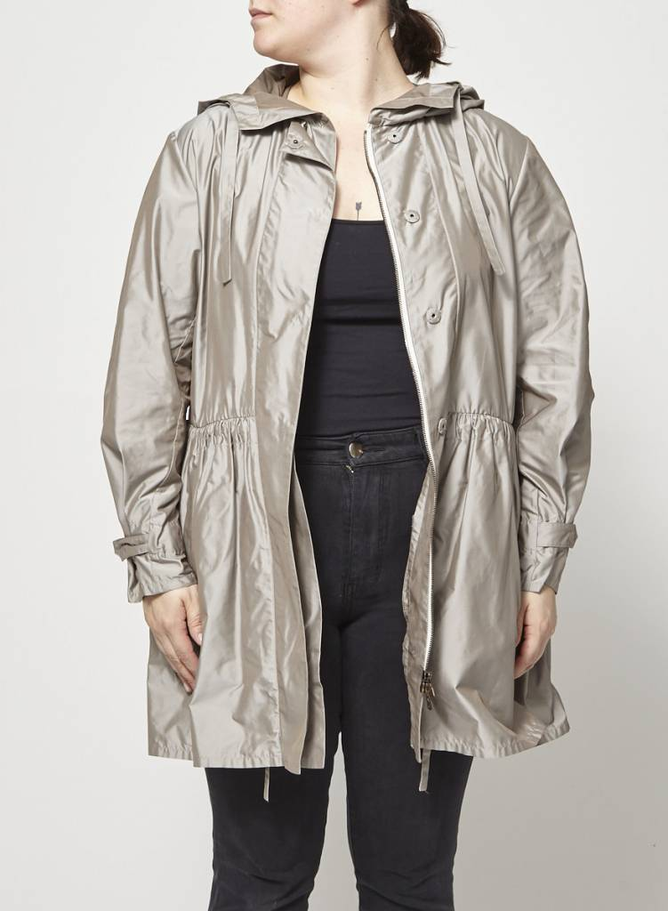 Prada Manteau léger taupe métallique