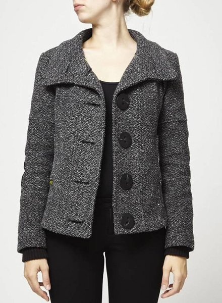 Soia & Kyo MANTEAU COURT EN TWEED GRIS