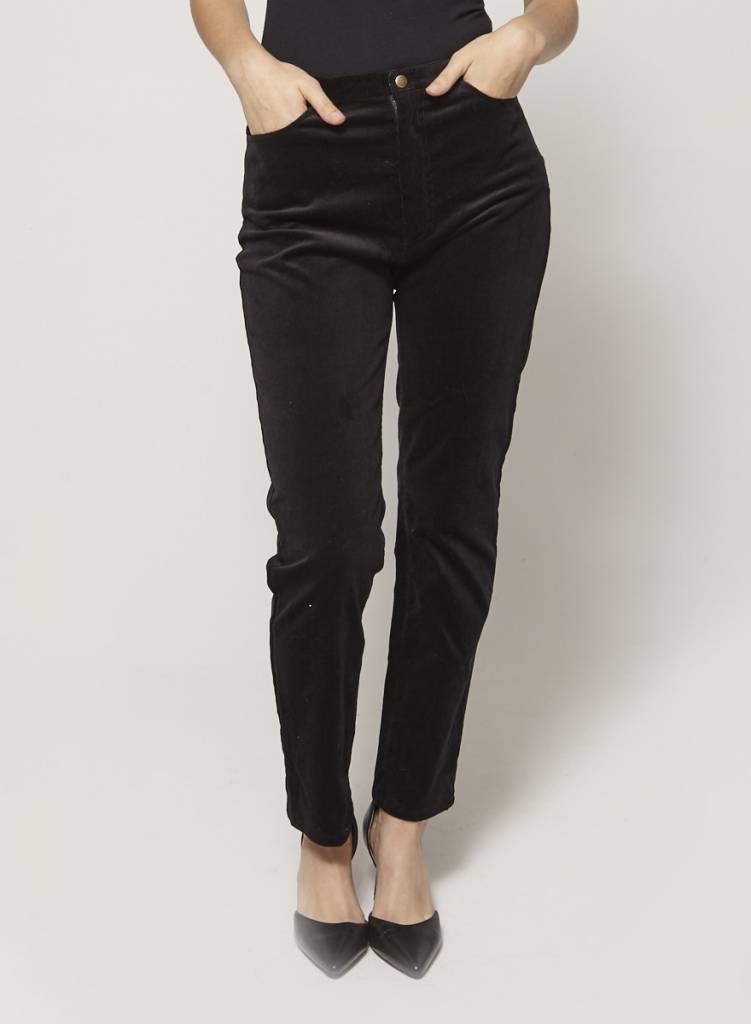 Betina Lou Pantalon noir en velours côtelé