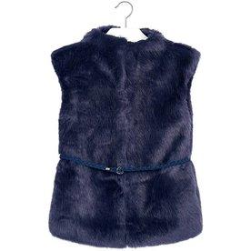 Mayoral Mayoral Faux Fur Vest with Belt
