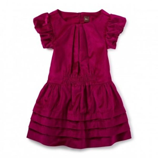 Tea Collection Tea Collection Dunrobin Velvet Dress
