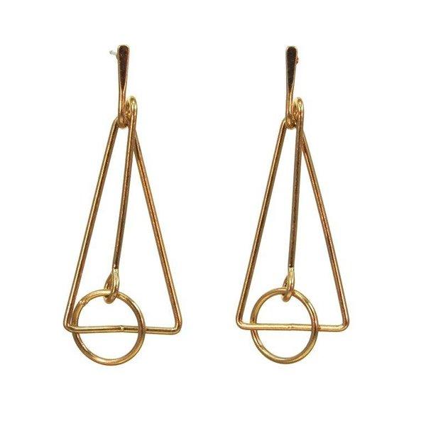 Kole Jewelry Design Metal Geo Earrings