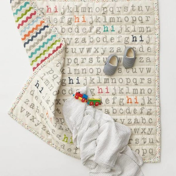 Pehr Designs Pehr Hi Alphabet Blanket